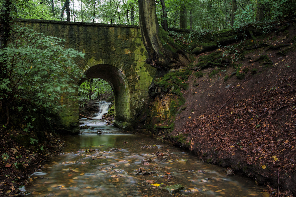 Die alte Brücke am Rickbach.