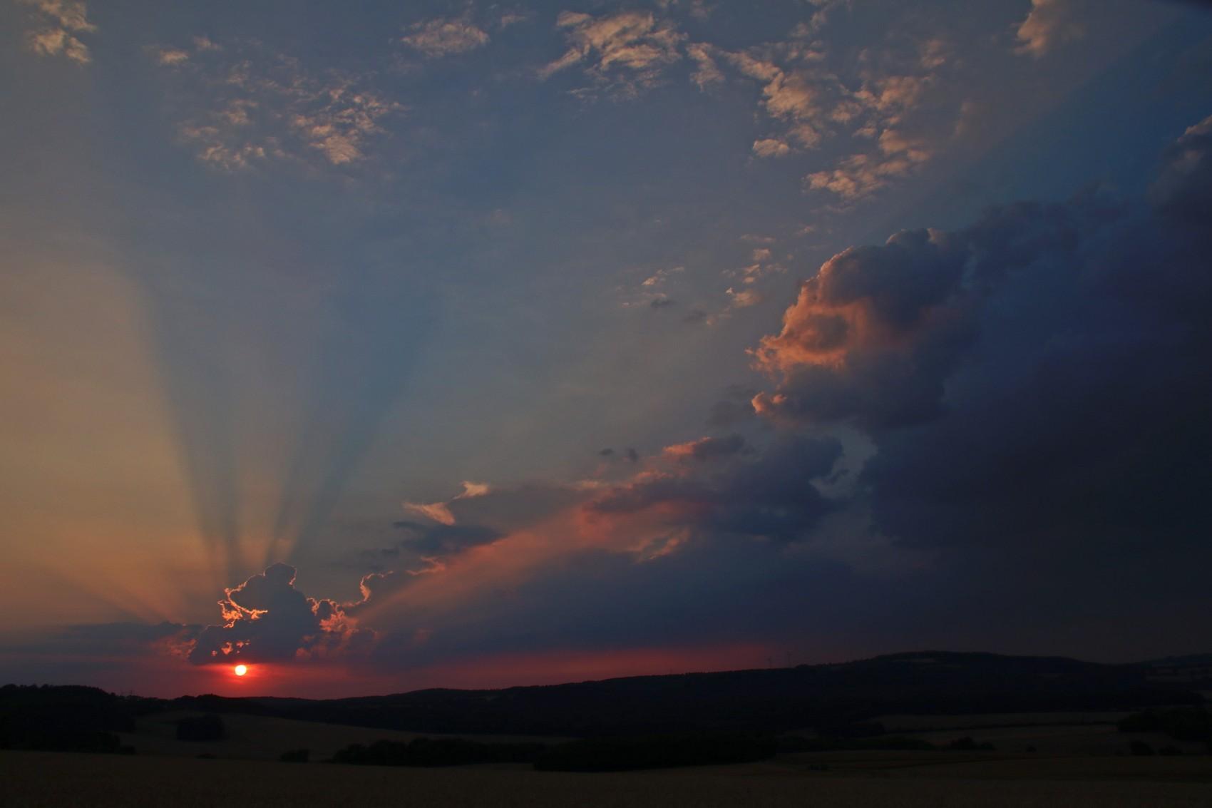 Sonnenuntergang am Knappberg © Renate Mahnert